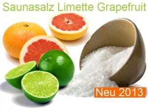 Saunasalz Salzöl Limette Grapefruit