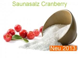 Saunasalz Cranberry Salzöl Cranberry